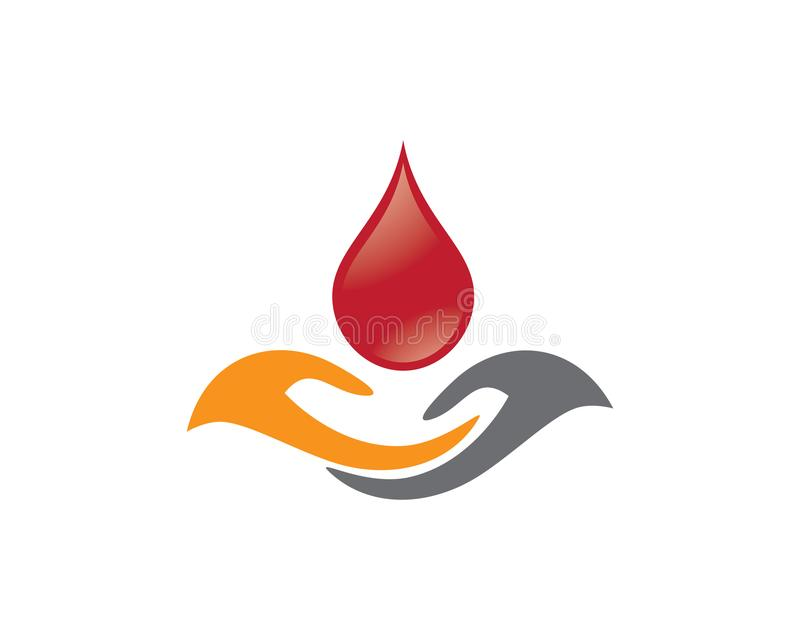 Blutvektorikonen-Illustrationsdesign lizenzfreie abbildung