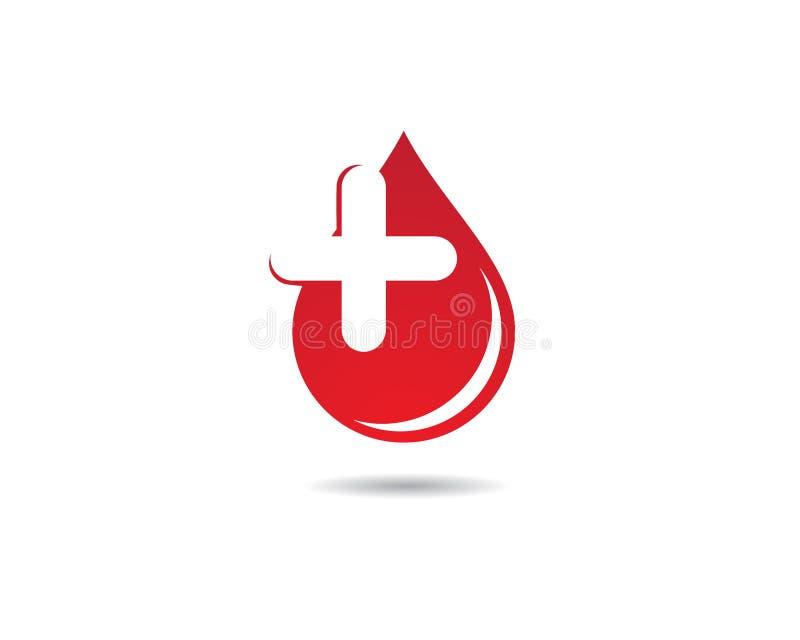 Blutvektorikonen-Illustrationsdesign vektor abbildung