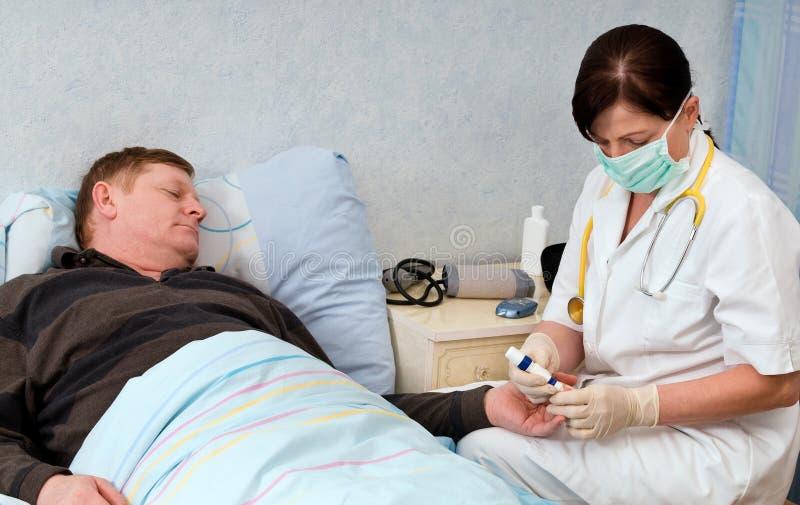 Blutzuckerprüfung lizenzfreies stockbild