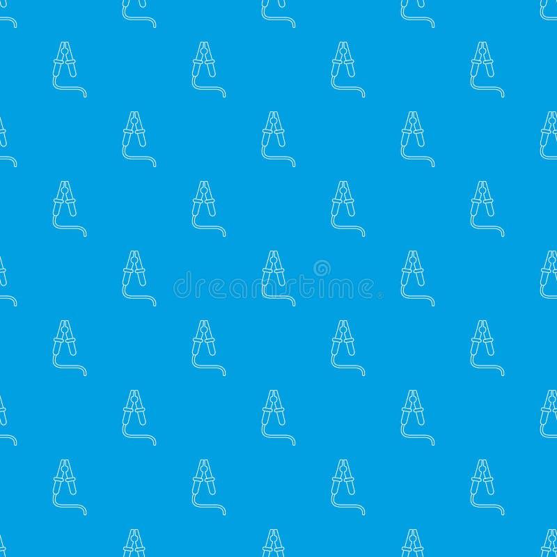 Bluza kabla wzoru wektorowy bezszwowy błękit ilustracji
