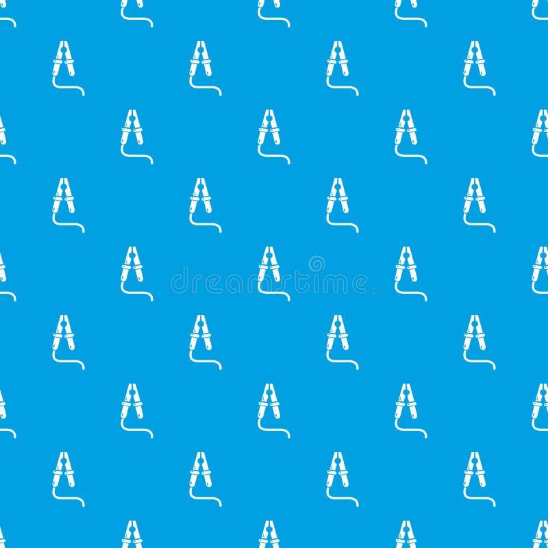 Bluza kabla wzoru wektorowy bezszwowy błękit ilustracja wektor