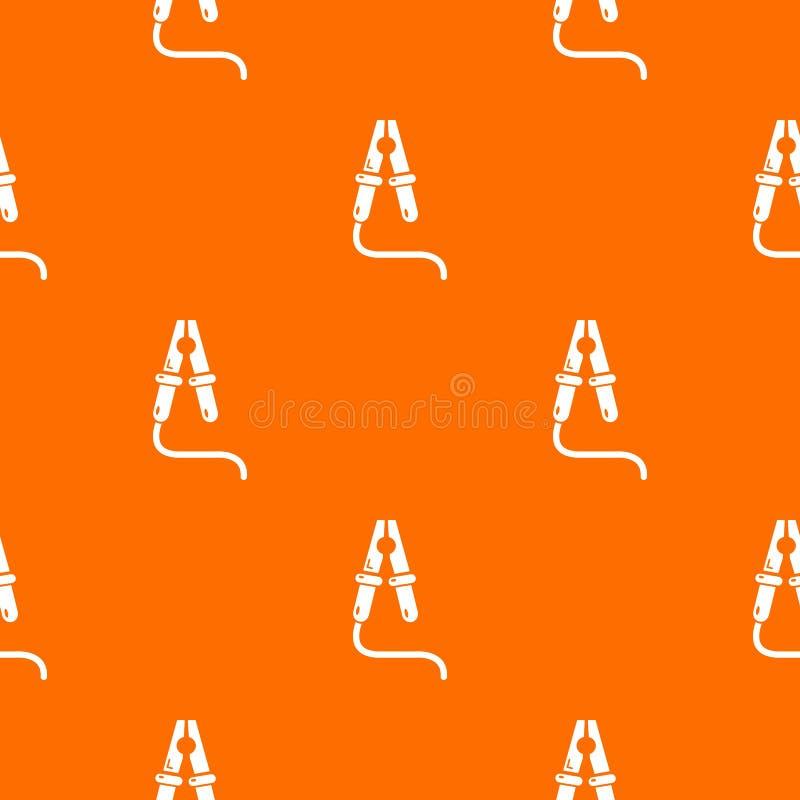 Bluza kabla wzoru wektoru pomarańcze ilustracja wektor