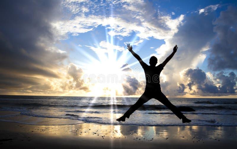 bluza piękny szczęśliwy wschód słońca zdjęcie royalty free
