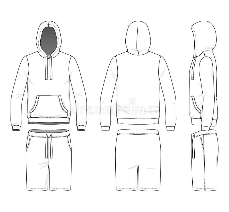Bluza sportowa i skróty royalty ilustracja