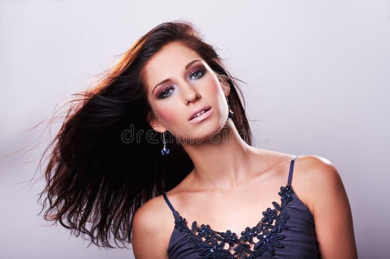 bluzki błękitny włosy wzorcowy target434_0_ obraz royalty free