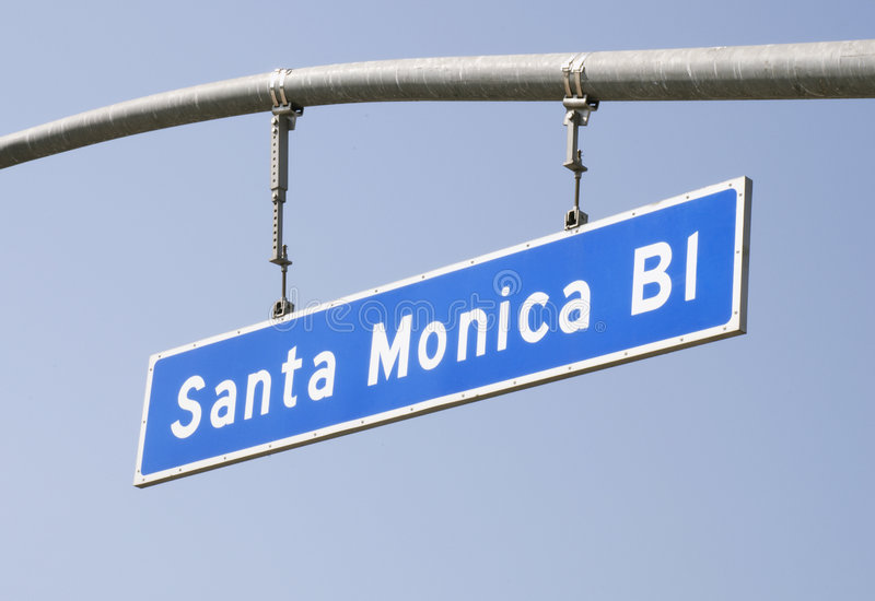 blvd οδός σημαδιών santa της Μόνικα στοκ φωτογραφίες