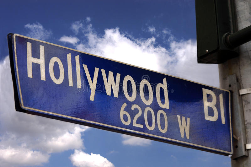 blvd hollywood σημάδι στοκ φωτογραφία με δικαίωμα ελεύθερης χρήσης