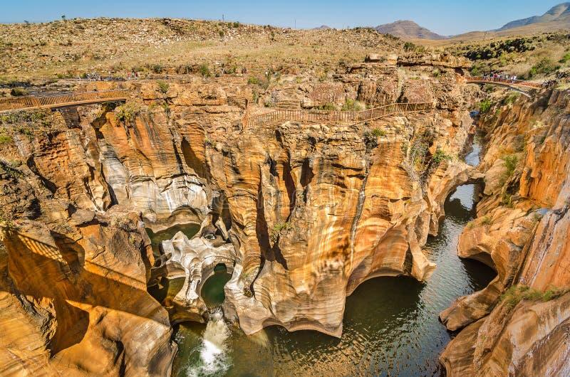 Blyde flodkanjon, Mpumalanga region, Sydafrika royaltyfria foton
