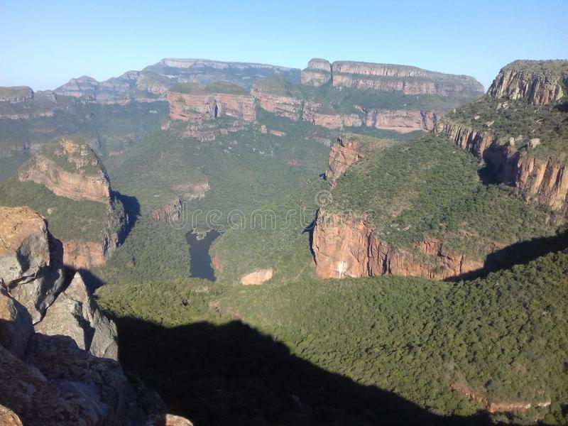 Blyde River Canyon in the Lowveld. The Blyde River Canyon in the Lowveld SouthAfrica royalty free stock images