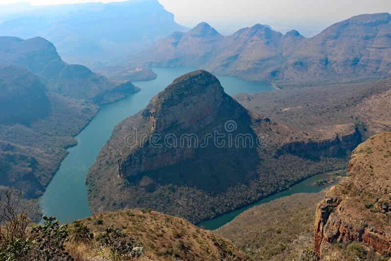 Blyde River Canyon vicino a Johannesburg Sud Africa fotografia stock libera da diritti