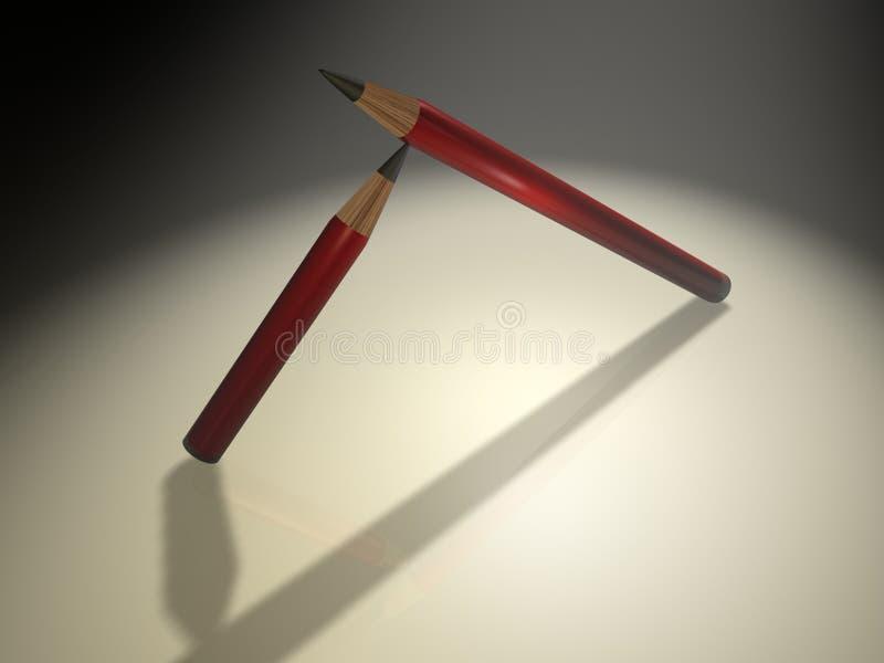 blyertspenna 7 vektor illustrationer