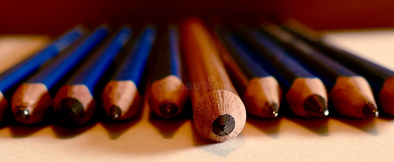 Blyertspenna fotografering för bildbyråer