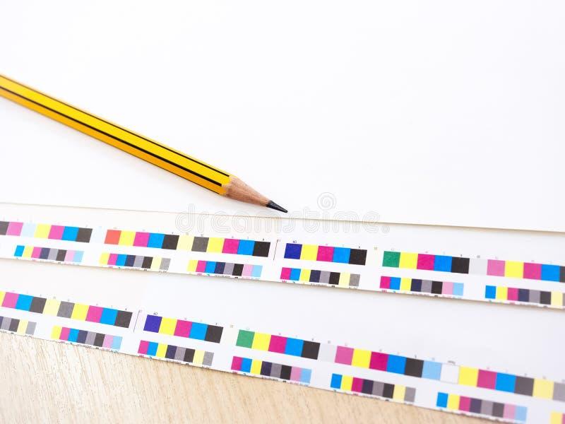 Blyertspenna för process för arbete för bransch för Digital tryckpressoffset och C royaltyfria foton