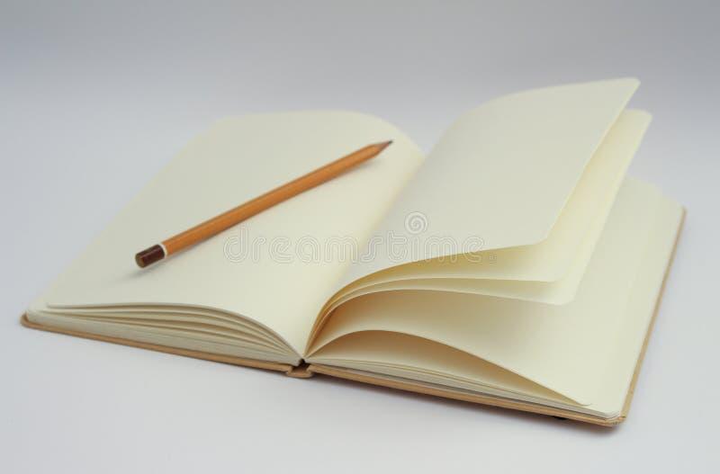 Blyertspenna På Den Tomma Boken Gratis Allmän Egendom Cc0 Bild