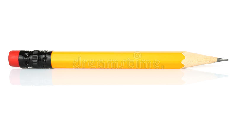 Blyertspenna på en vit bakgrund royaltyfria foton