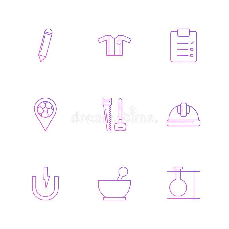 blyertspenna skjorta, skrivplatta, navigering, maskinvara, arbete, pilbåge stock illustrationer