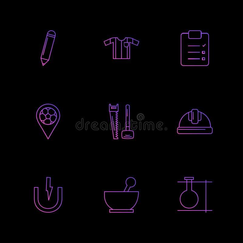 blyertspenna skjorta, skrivplatta, navigering, maskinvara, arbete, pilbåge royaltyfri illustrationer