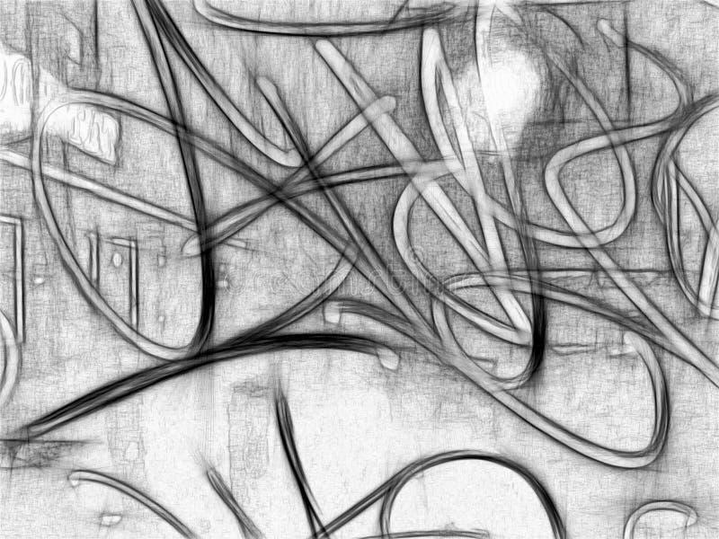 Blyertspennaabstrakt begrepp royaltyfri illustrationer