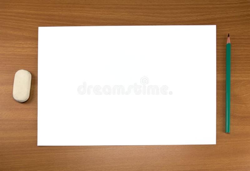 blyertspennaarkwhite royaltyfria bilder