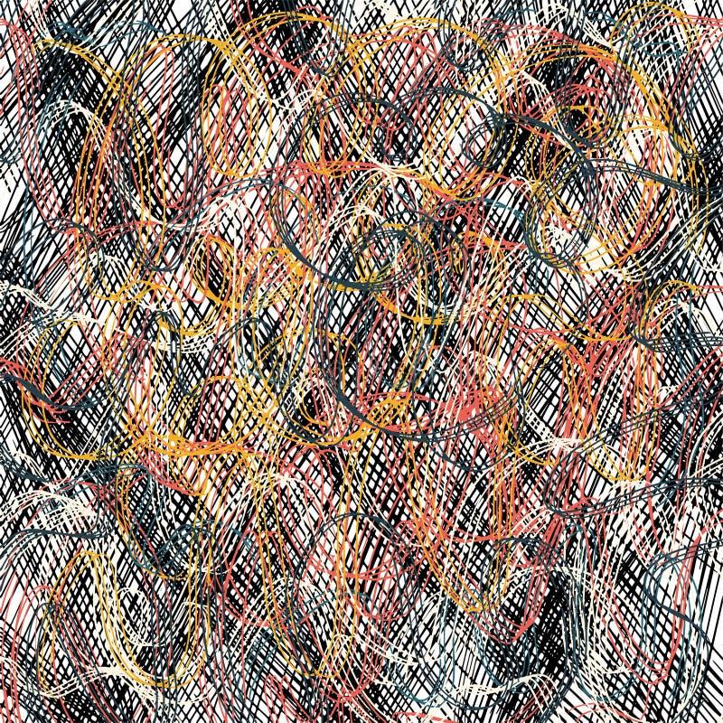 Blyertspennan klottrar textur Geometriskt enkelt modetygtryck abstrakt bakgrundsbegrepp ocks? vektor f?r coreldrawillustration Pa stock illustrationer