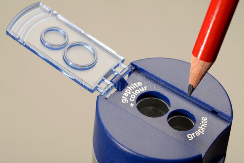 blyertspennan vässar ditt royaltyfri bild