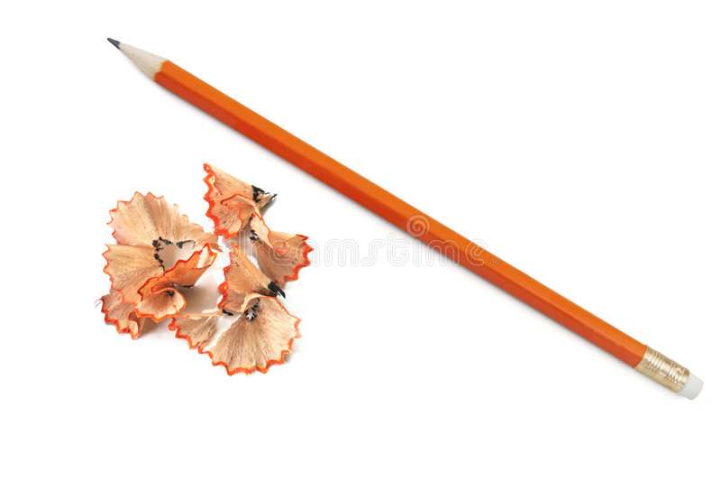 blyertspennashavings arkivbild