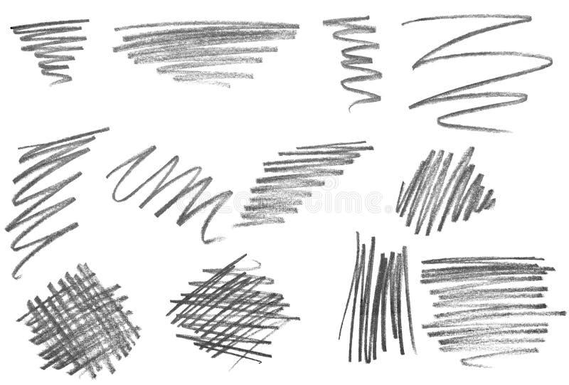 blyertspennaslaglängder vektor illustrationer
