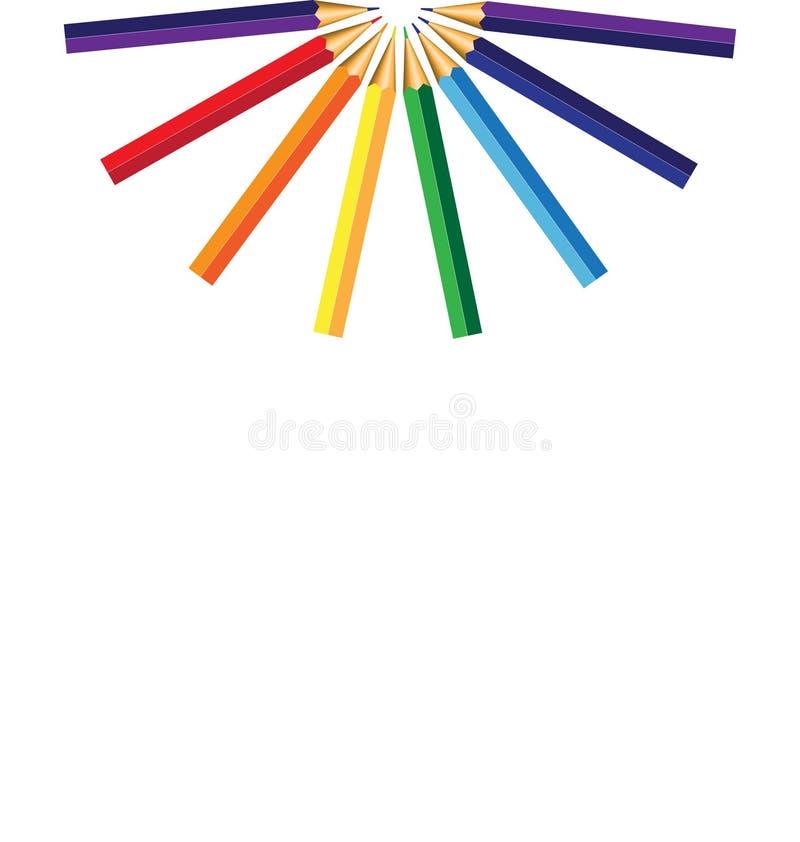 blyertspennor royaltyfri illustrationer