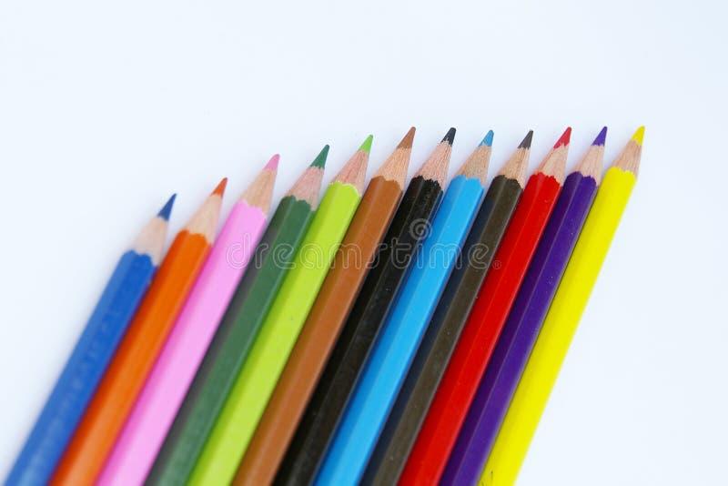 blyertspennor för färg ii royaltyfri bild