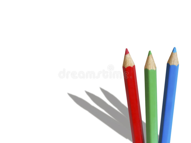 blyertspennor tre arkivbilder