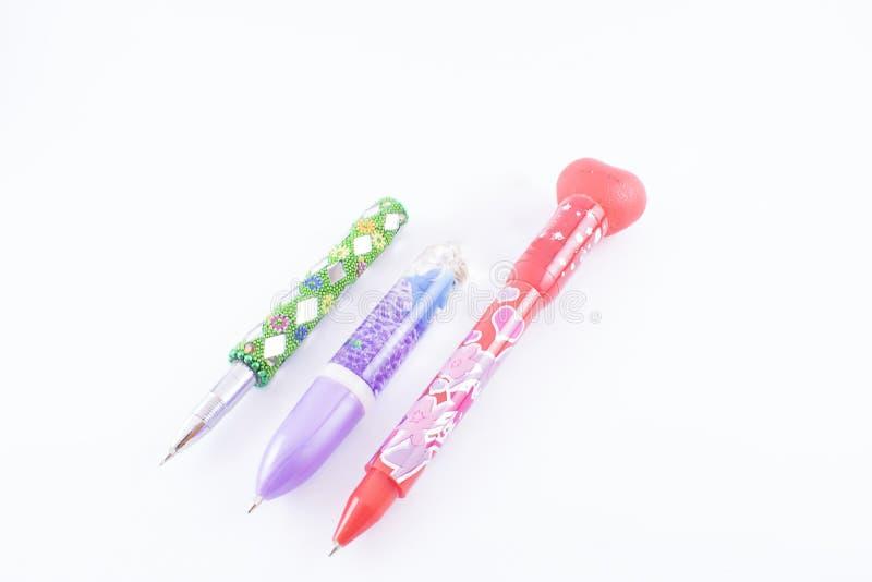 blyertspennor tre royaltyfri fotografi