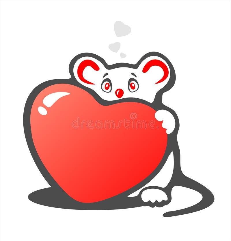 blyg hjärtamus vektor illustrationer
