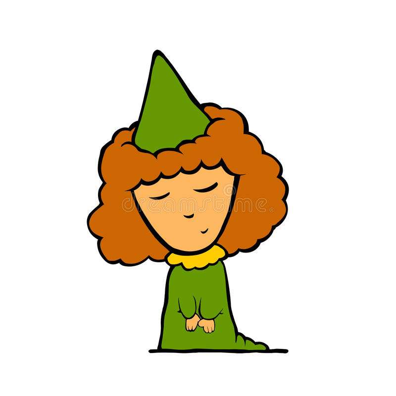 blyg princess royaltyfri illustrationer