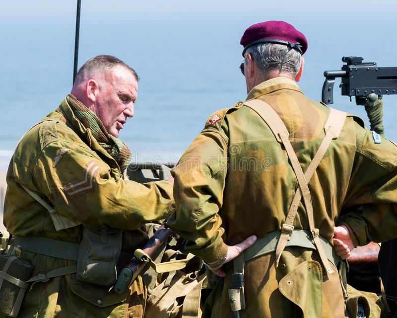Blyth Battery. Annual World War Two reenactment. royalty free stock images