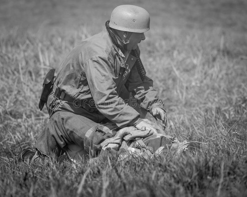 Blyth Battery. Annual World War Two reenactment. royalty free stock image