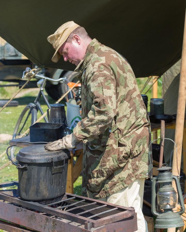 Blyth Battery. Annual World War Two reenactment. stock images