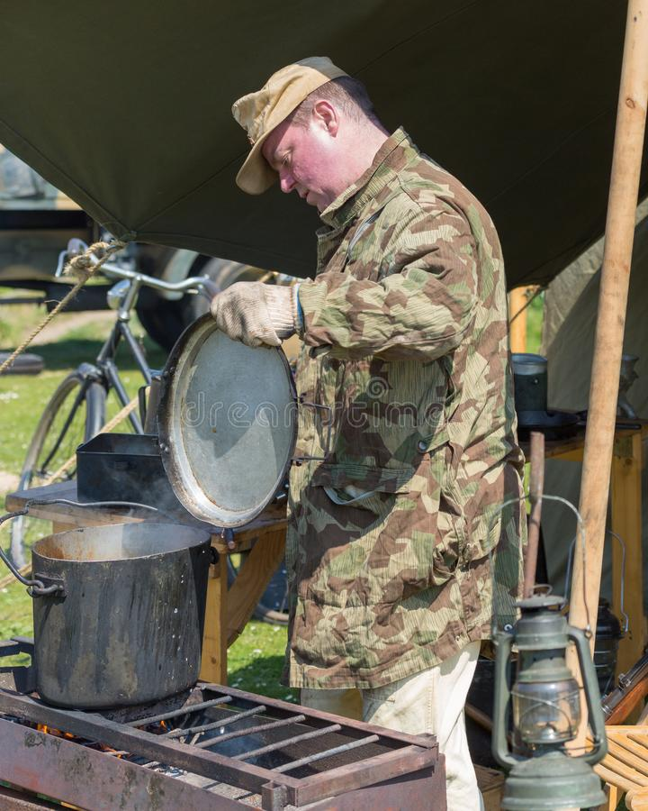 Blyth Battery. Annual World War Two reenactment. royalty free stock photography