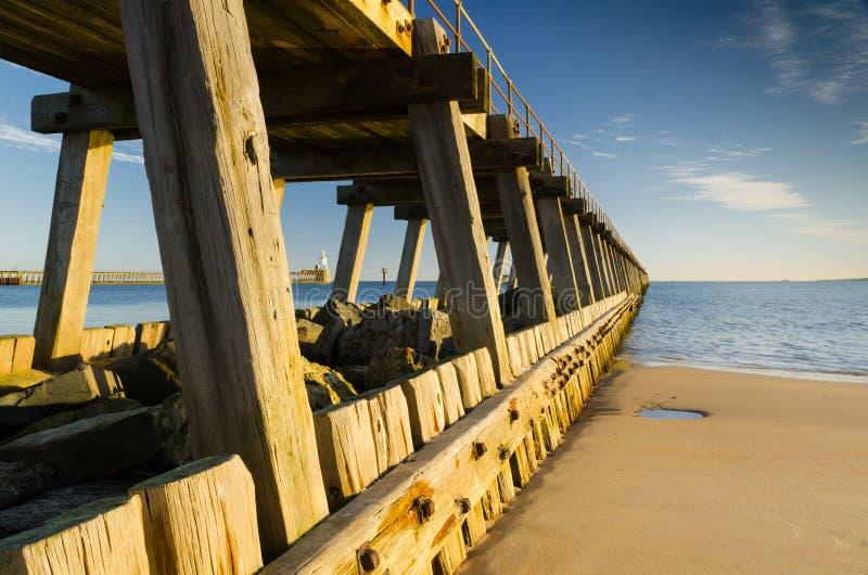 Blyth south pier. The port of Blyth originally dates back to the 12 century and still thrives today stock photos