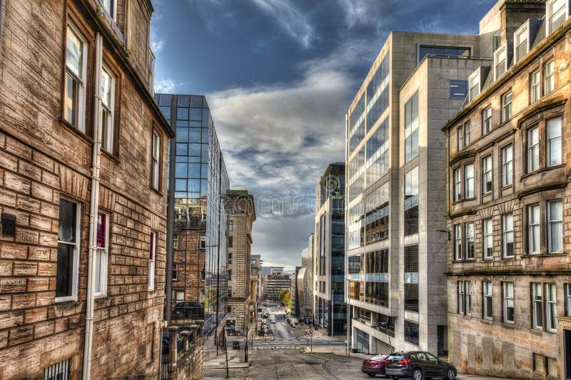 Blythswood street. the city of Glasgow in Scotland, United Kingdom.  stock photography