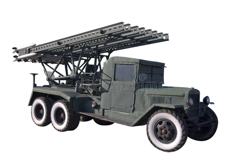 Download BM-13 MLRS isolated stock image. Image of launcher, multiple - 8221195
