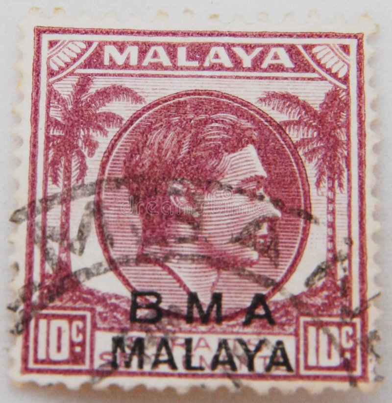 BMA Stamps royalty free stock photos