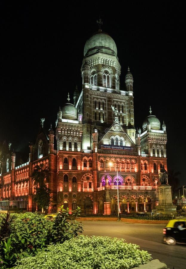 BMC委员大厦在孟买在晚上 免版税库存照片