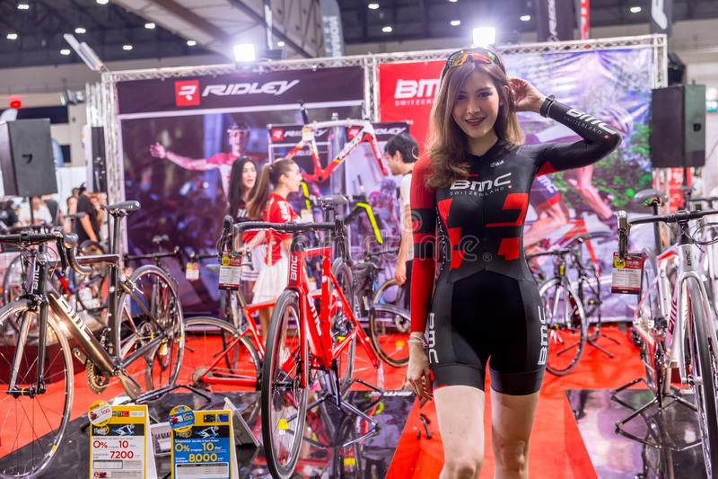BMC Switzerland road bicycle sale in International Bangkok Bike 2018 Bike Expo fair in Thailand royalty free stock photos