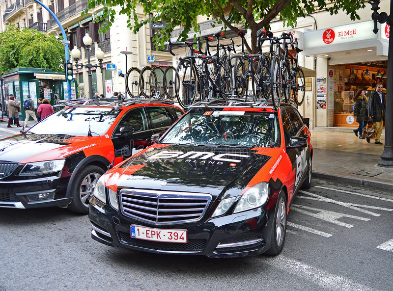 BMC Team Car And Bikes stock image