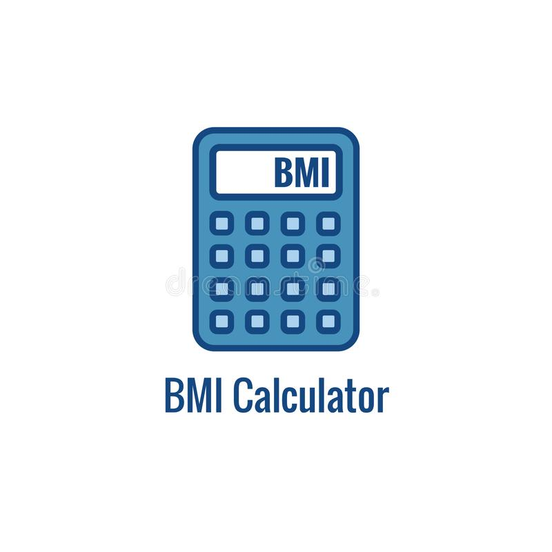 BMI/Body-Maß-Index-Ikone - Bild, das Gewichtsbalance schildert stock abbildung