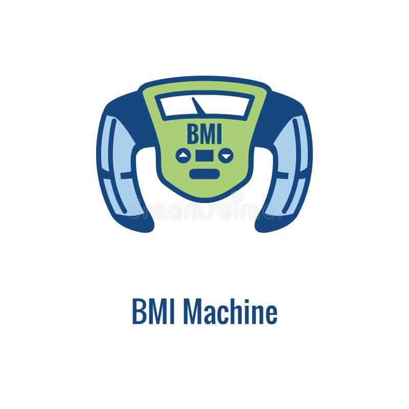 BMI, ciało mszy wskaźnika ikona/- wizerunek przedstawia ciężar równowagę ilustracji