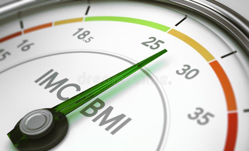 BMI index för kroppmass royaltyfri illustrationer