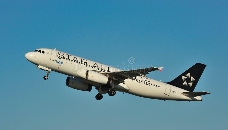 BMI Luchtbus A320 royalty-vrije stock foto's