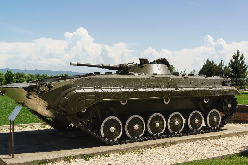 BMP-1 — Véhicule de combat dépisté soviétique d'infanterie - le véhicule de combat de flottement périodique d'infanterie des mond photos libres de droits