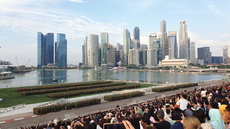 BMT-graduatieparade in Marina The Float royalty-vrije stock afbeeldingen